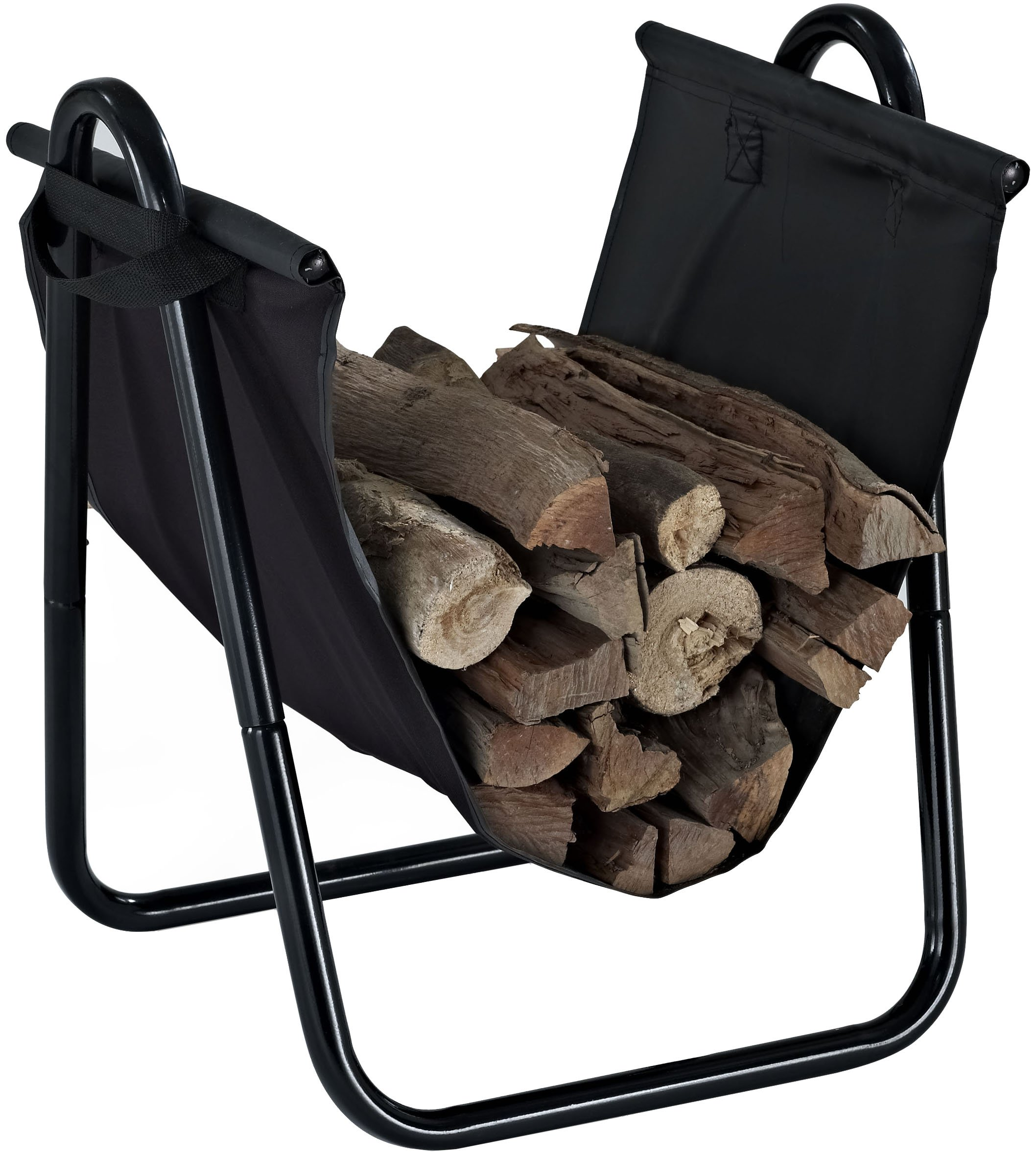 Crosley Furniture Logan Firewood Storage Rack and Carrier - Black by Crosley Furniture (Image #1)