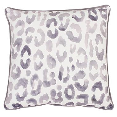Thro by Marlo Lorenz 20x20 Miron Cheetah Velvet Throw Pillow, 20  x 20 , Nirvana