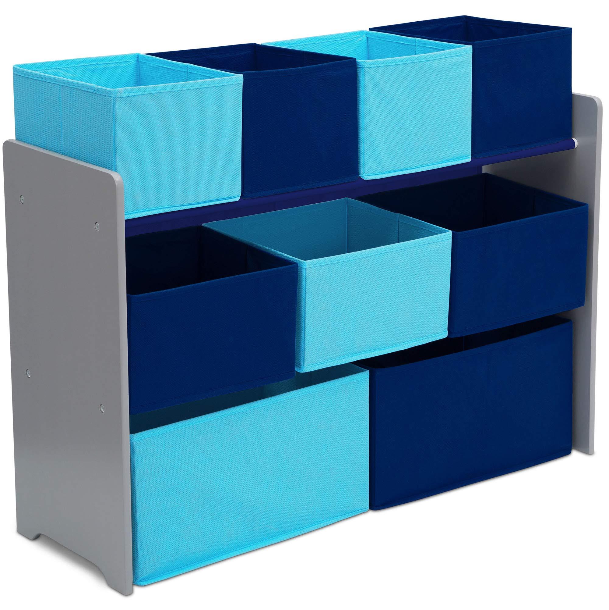 delta children deluxe multi bin toy organizer with storage bins white pink baby. Black Bedroom Furniture Sets. Home Design Ideas
