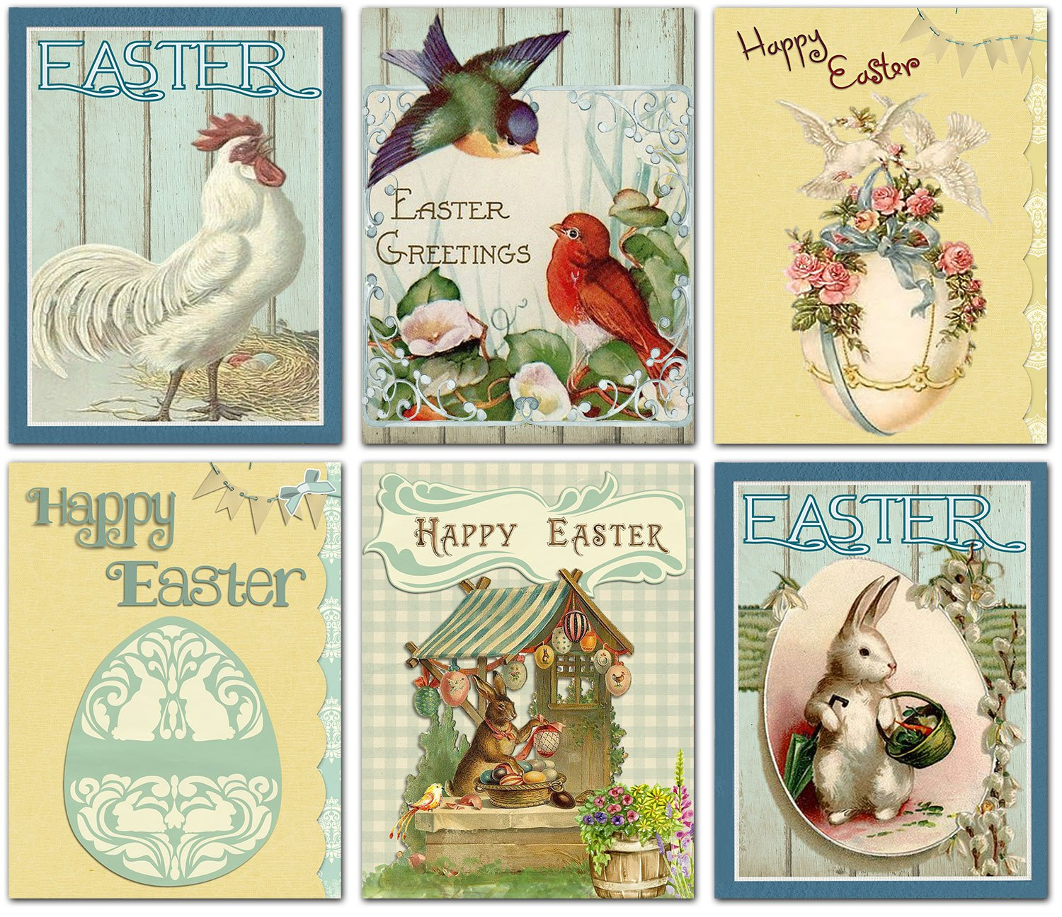 Amazon Happy Easter Blank Note Cards Greeting Cards With