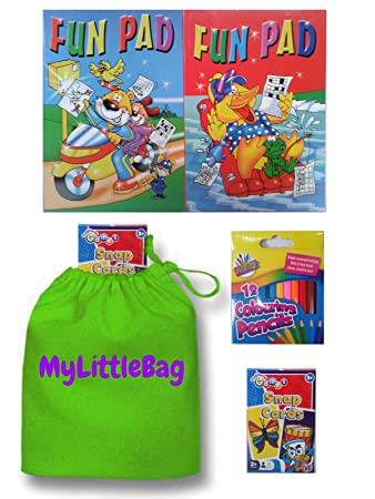 Colouring Books and Pencils - Kids Activity Packs - Activity Books ...