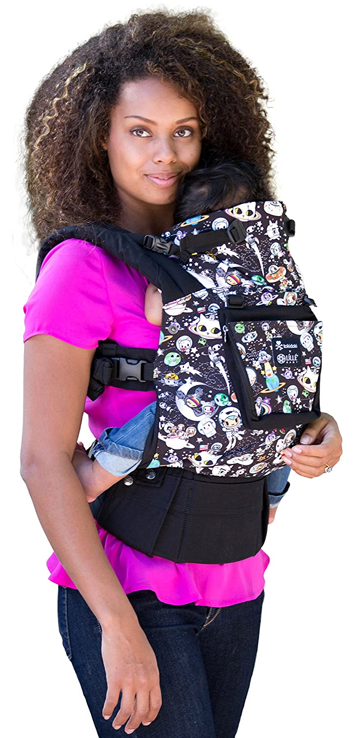 SIX-Position, 360° Ergonomic Baby & Child Carrier by LILLEbaby - The COMPLETE Original (Black w/TokiDoki SPACE) SC-1c-101-TDS