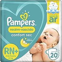 Fralda Pampers Recém-Nascido Confort Sec Rn+ 20 Unidades, Pampers