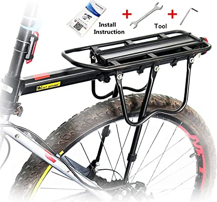 Universal Adjustable Equipment Stand Footstock Bicycle Carrier Rack Reflective