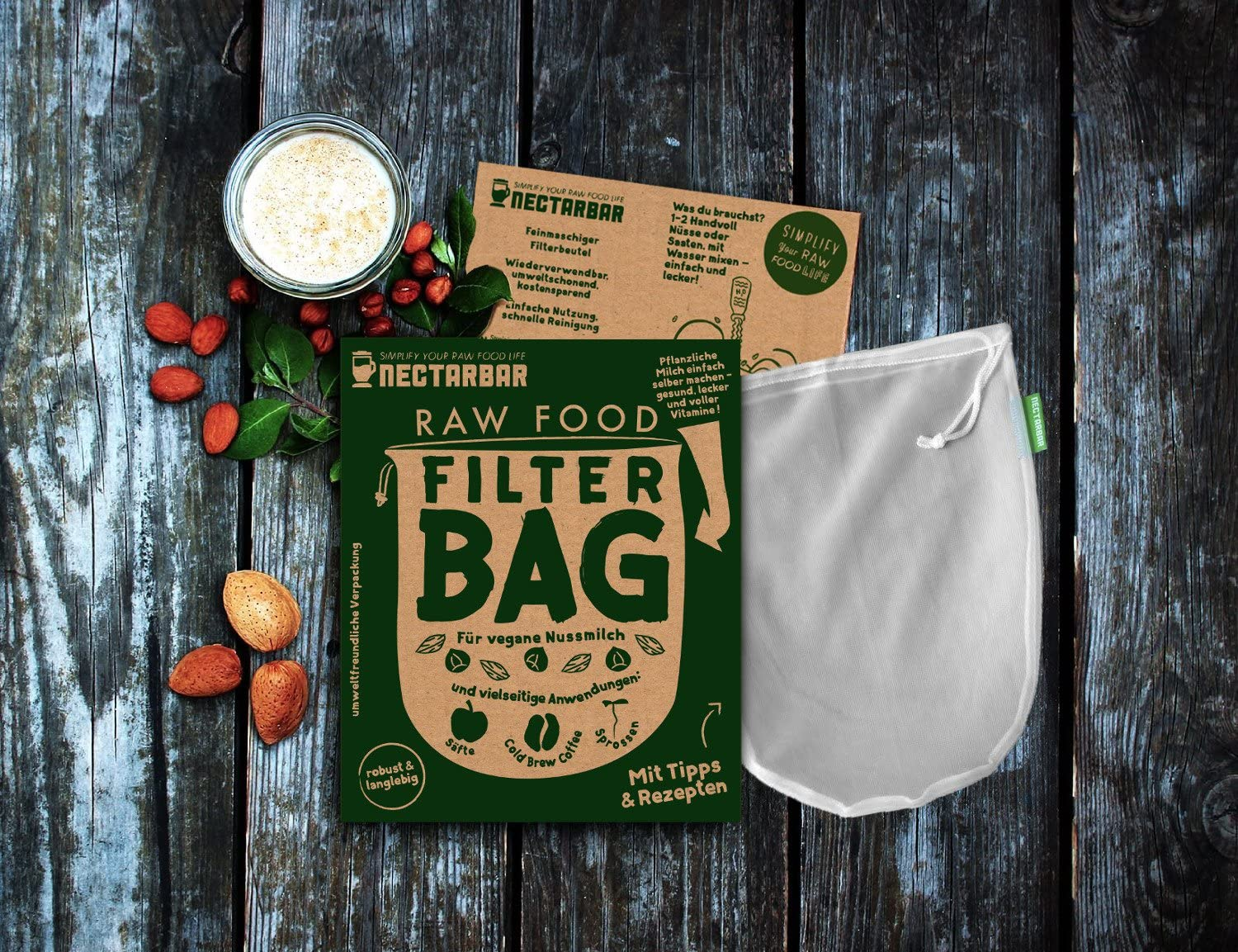 BOLSA DE LECHE VEGETAL - NECTARBAR (Eco) RAW FOOD FILTER BAG ...