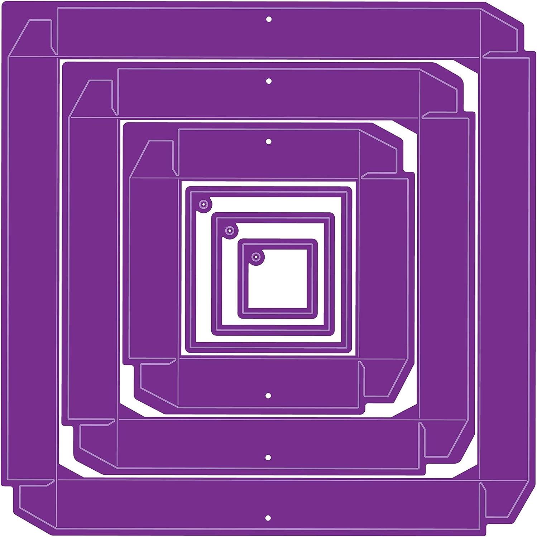 Einheitsgr/ö/ße Crafters Companion GEM-DSD-DIM-SQU Gemini Doppelseitigen W/ürfel Dimensionals Viereckiger Kasten Multi-Colour