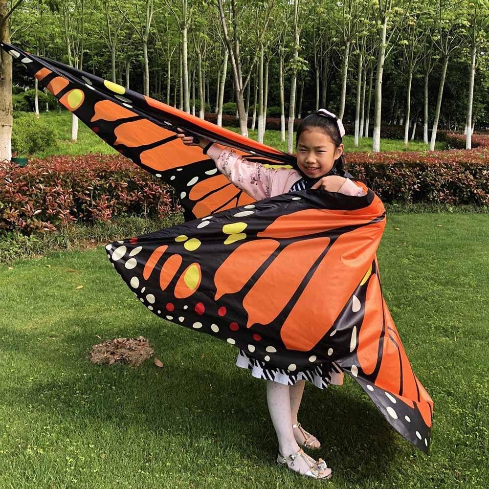 LANSKRLSP Costume Donne Elegante Farfalla Ali Scialle Sciarpe NINFA Pixie Poncho Costume Bikini Accessorio per LEstate
