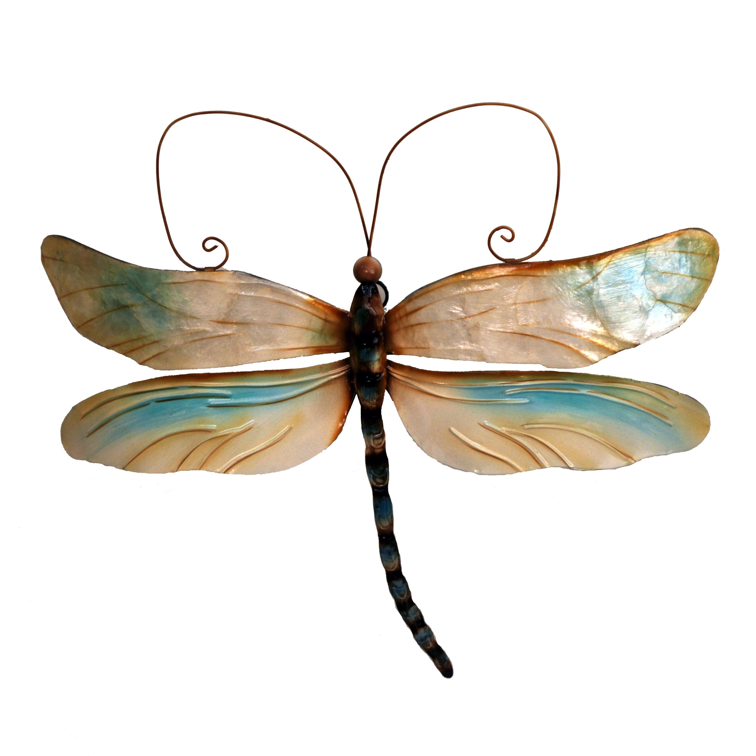 Eangee m711046 Wall Dragonfly Pearl Metal Art Piece
