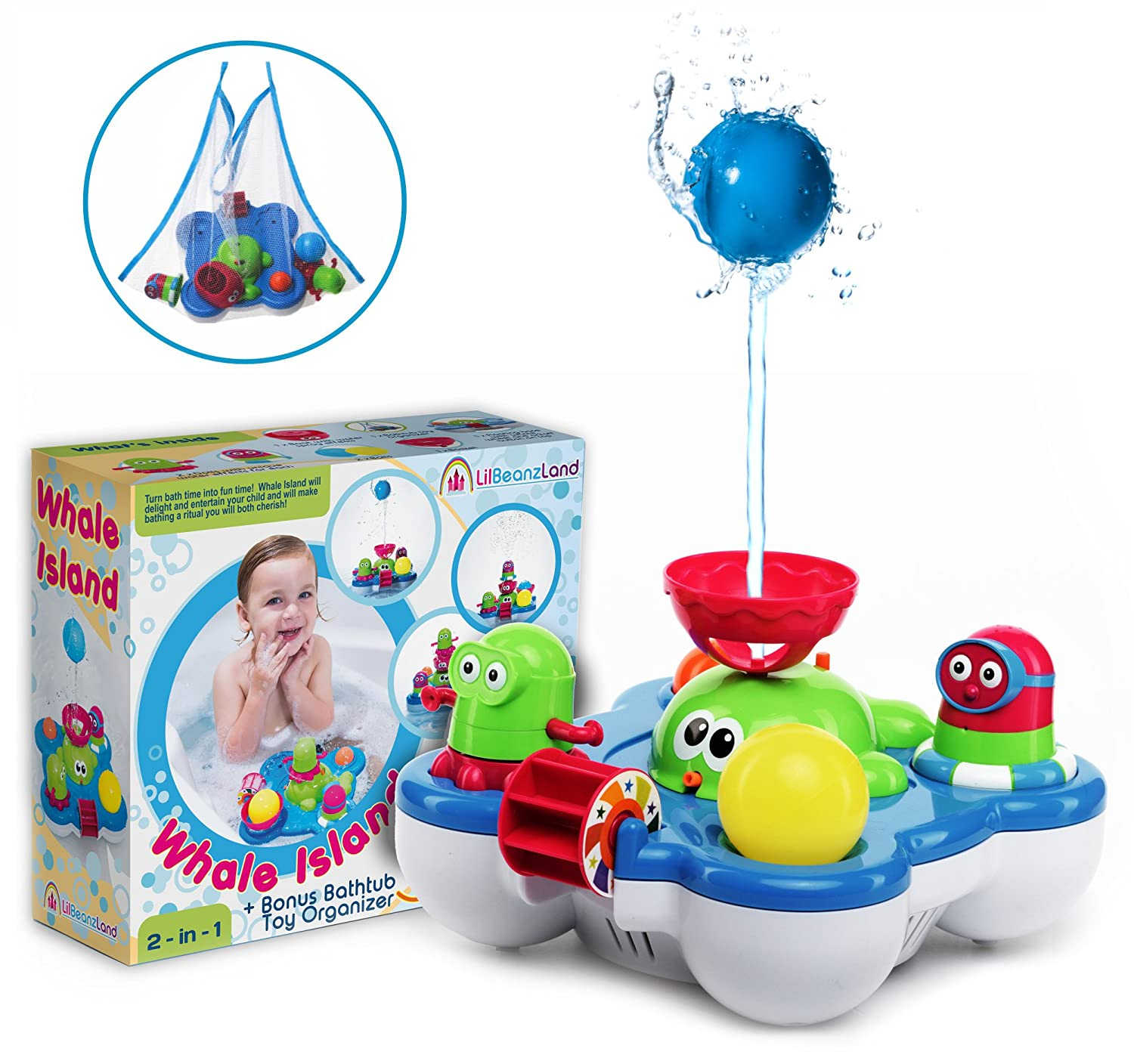 Baby Bath Toys for Kids - Whale Island Bathtub Toys - Best Baby Bath ...