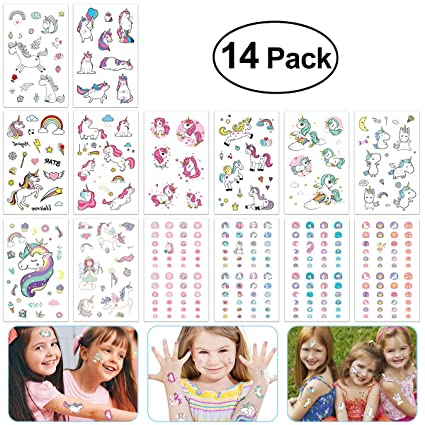 Amazon Com Toymytoy Unicorn Party Favors Unicorn Stickers Tattoos
