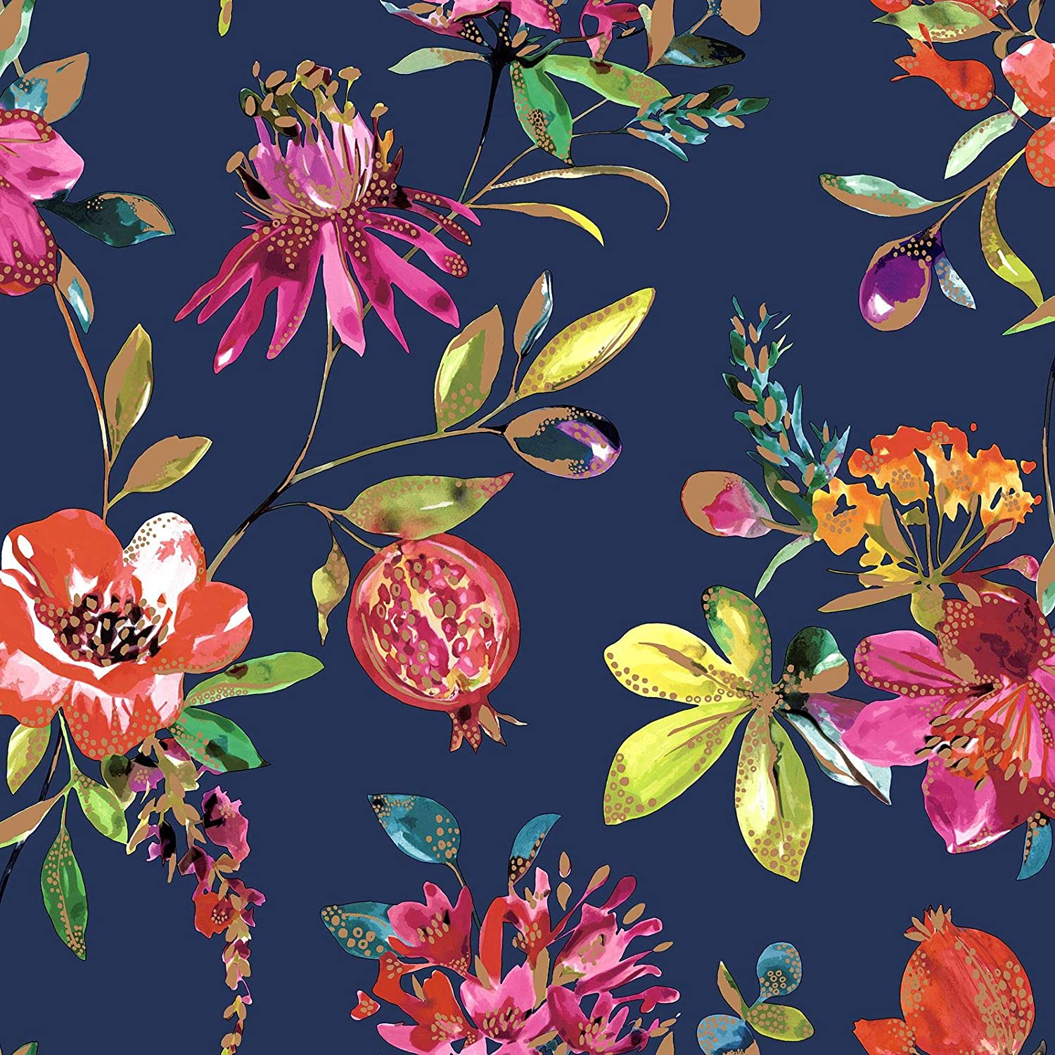 Holden Melgrano Floral Wallpaper Navy 90521 Amazon Com