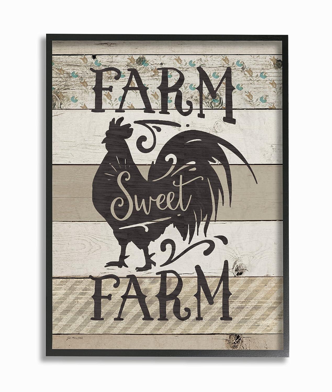 Amazon.de: Die Stupell Home Décor Kollektion Sweet Farm Rustikal ...