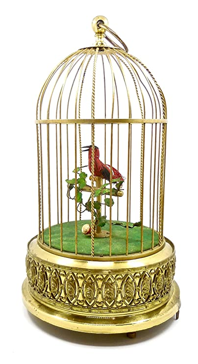 Other Antique Decorative Arts Charitable Antique German Karl Griesbaum Singing Bird Cage Music Box Automaton Antiques see Video