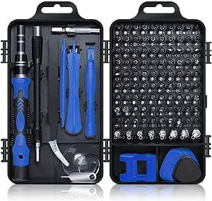 Juego de Destornilladores, Gocheer 115 en 1 Destornilladores de Precisión Kit de Herramientas Profesional,DIY Herramientas para Teléfono Movil,Gafas, Reloj, Ventilador,TV, Refrigerador, Ordenador ect.