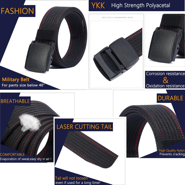 LionVII Men Nylon Belt Tactical Military with Plastic Buckle