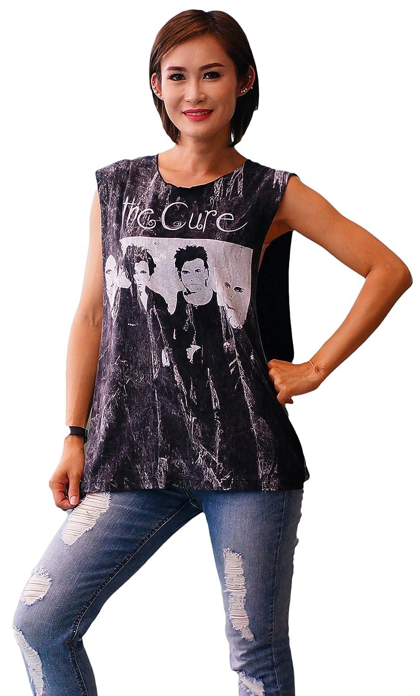Bkksnow The Cure Alternative Rock Band sleeveless Black Tank Top Shirt