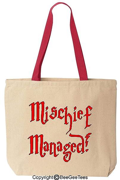 Amazon.com: Mischief Managed – Funny algodón canvas bolsa ...