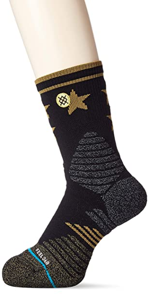 Calcetines Stance Floor General Ii - Basketball Athletic Oro (L , Negro)