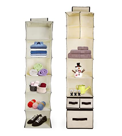Bon Stone And Clark Hanging Closet Storage For Homes, Dorms U0026 Craft Rooms |  Hanging Storage