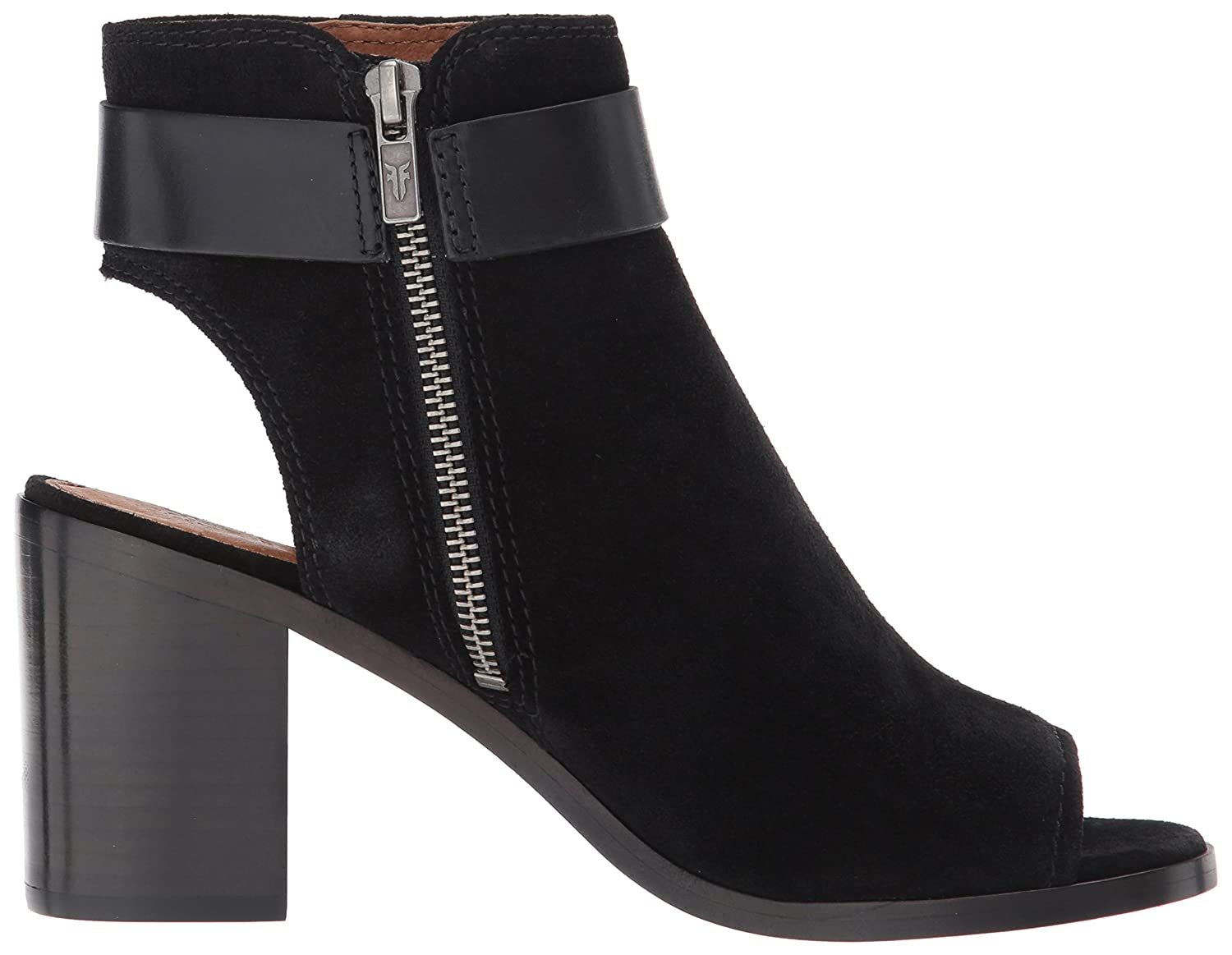 FRYE Women's Danica Harness Boot B01N0P4T8J 5.5 B(M) US|Black Soft Oiled Suede