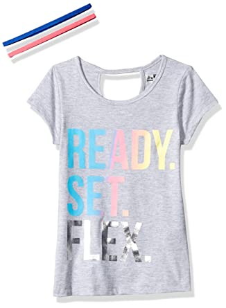 a52e12b53b8f6 Amazon.com  RBX Girls  Short Sleeve Tee Headband Set  Clothing