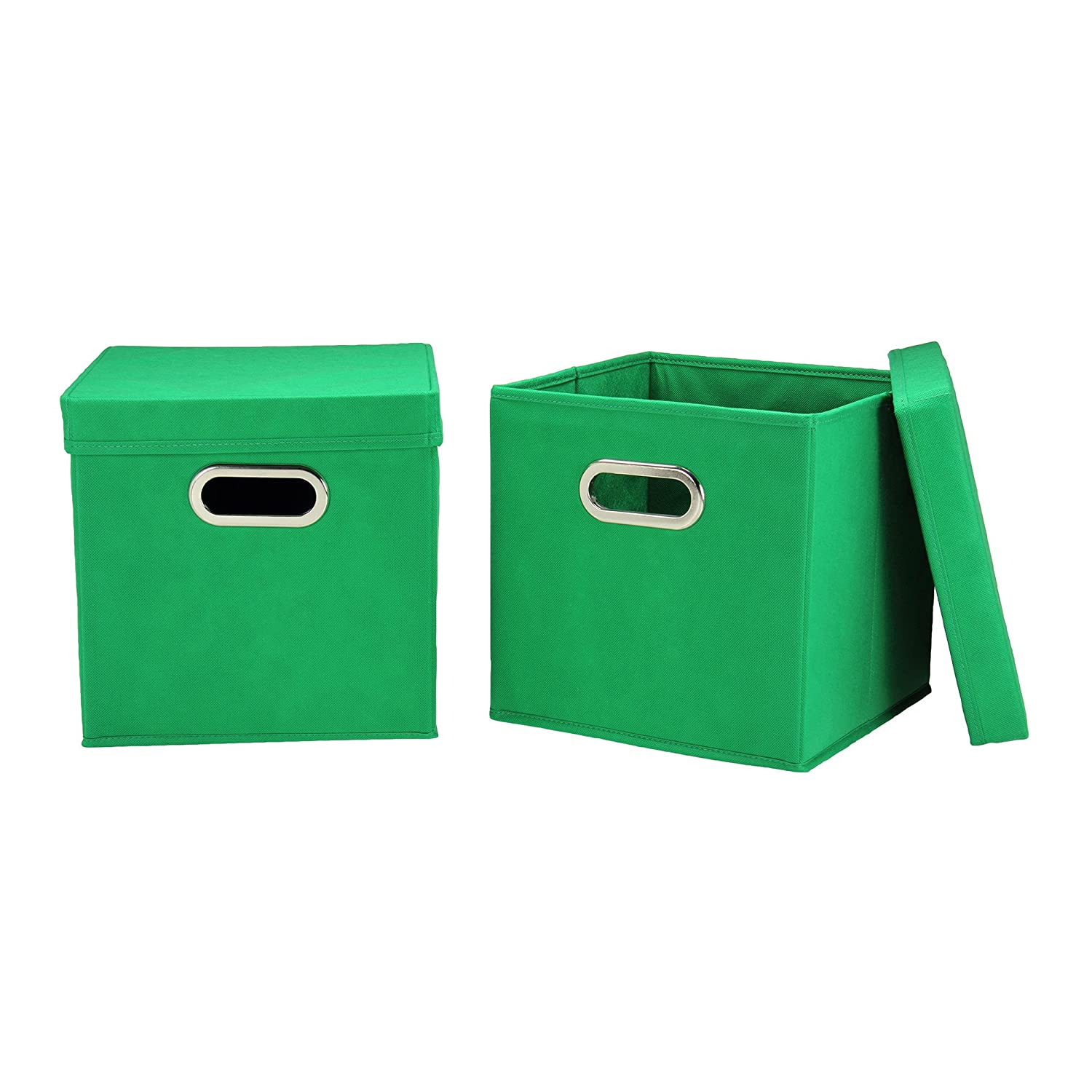 Amazon.com: Household Essentials 40 1 Decorative Storage Cube Set With  Removable Lids | Green | 2 Pack: Home U0026 Kitchen