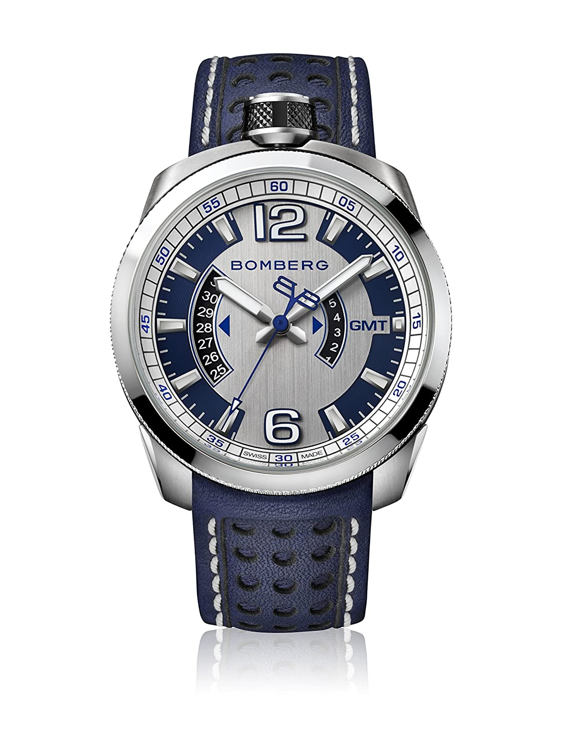 Bomberg BS45GMTSS.002.3 Bolt-68 collection Uhren - Swiss Made - 45 mm - Convertible taschenuhren