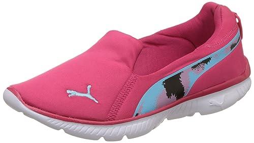 Puma Women s Fashin Stretch Black Sneakers - 6 UK India (39 EU ... 28d6cb3b4