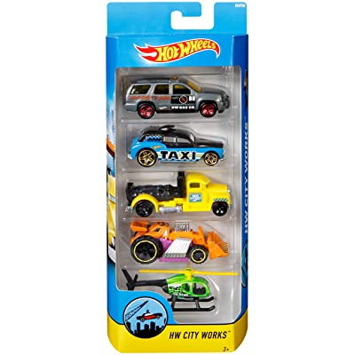 Hot Wheels 2020 HW City Works 5-Pack: Toys & Games