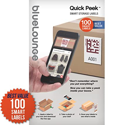 [Quick Peek] Smart Storage Sticker / Adhesive Labels for Moving Boxes Shoe Organizer Storage  sc 1 st  Amazon.com & Amazon.com: [Quick Peek] Smart Storage Sticker / Adhesive Labels for ...