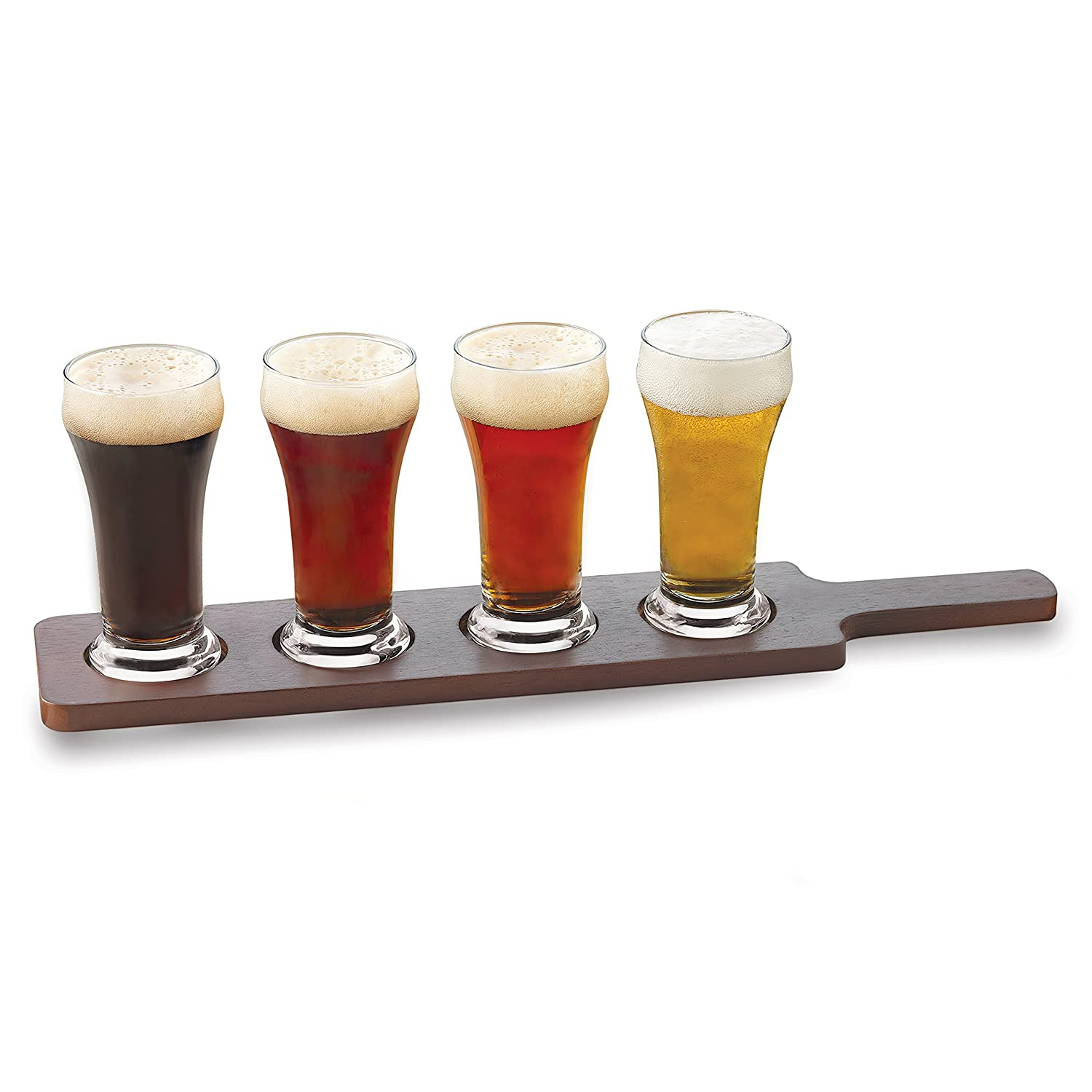 Libbey 5 Piece Craft Brews Beer Flight 6-Ounce Clear Pilsner Glass Set, 6 oz, Clear 16YS4