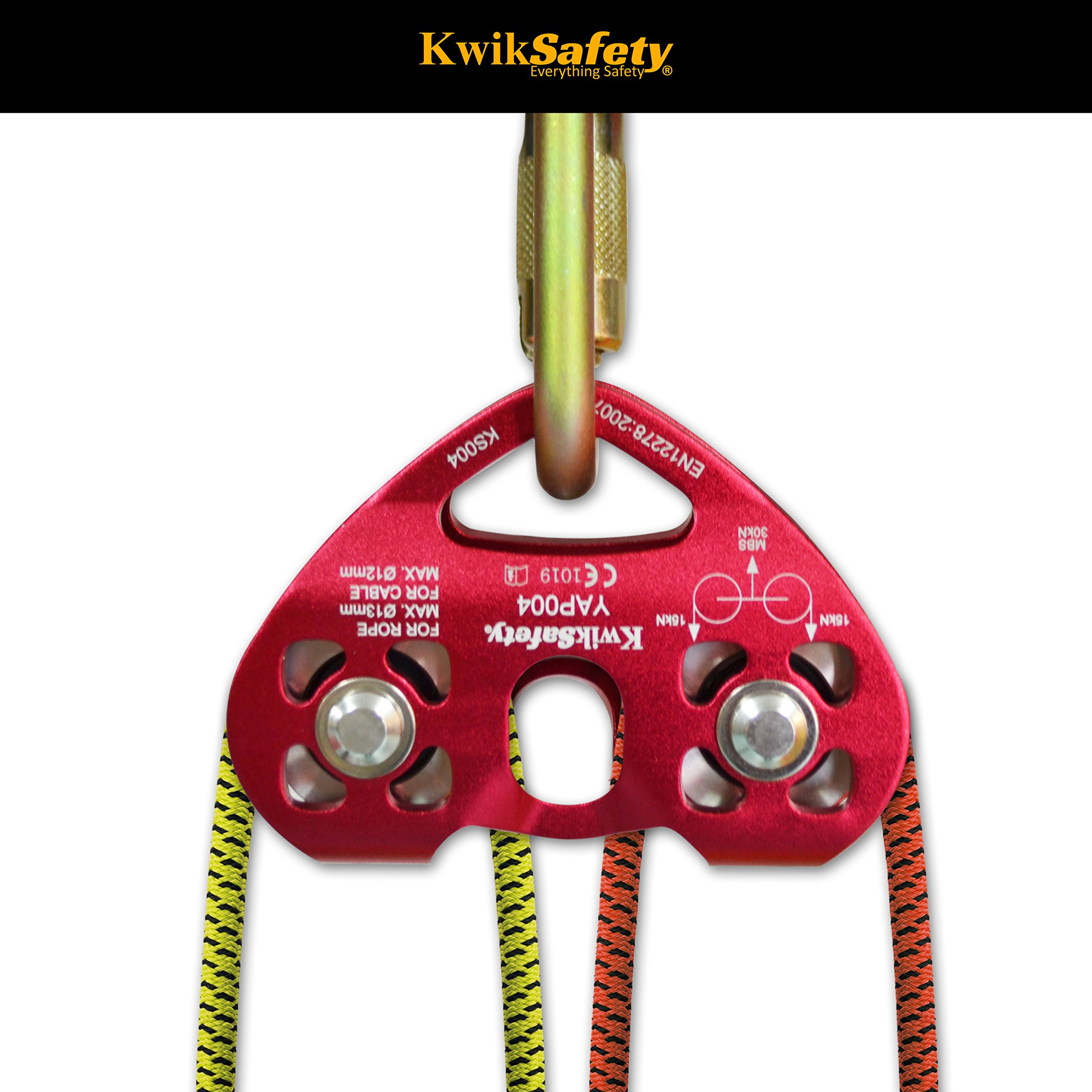 KwikSafety CRUISE | Tandem Pulley | Heavy Duty Lightweight Aluminum Alloy Climbing Gear | Min. Breaking Load 30 kN ROPE & CABLE | EN & CE Certified | High Performance Smooth Tension Zip Line System