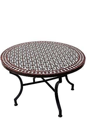 Amazon De Original Marokkanischer Mosaiktisch Couchtisch O 100cm