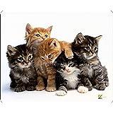 Alfombrilla de ratón antideslizante, con diseño de gatitos