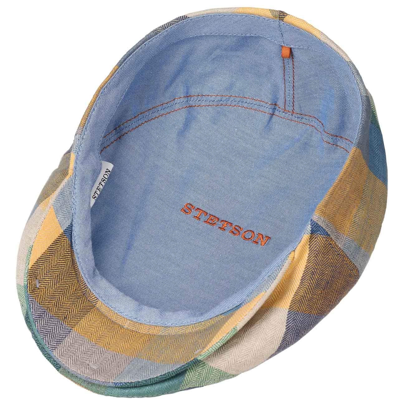 1567f94b Stetson Kent Colour Checks Flat Cap Linen Ivy hat: Amazon.co.uk: Clothing