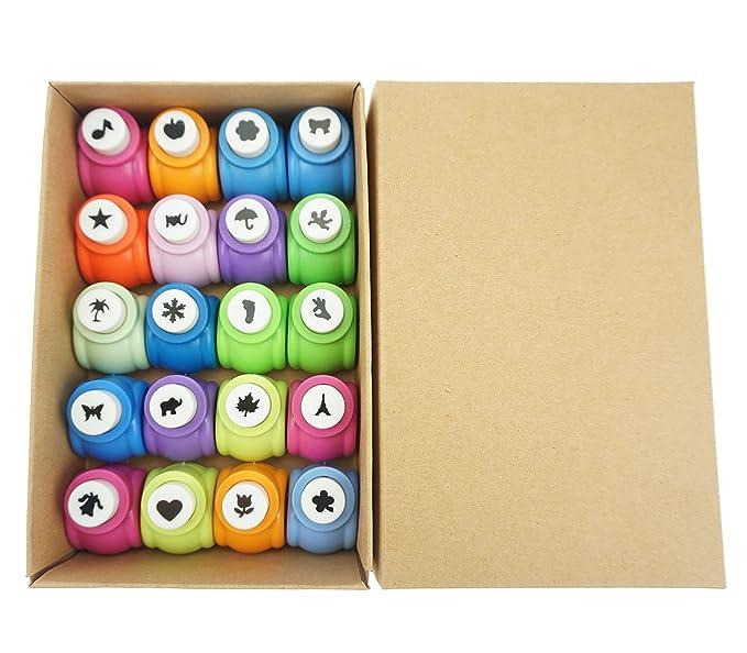 Bilipala 20pcs Cute Multi Pattern Scrapbooking Punches Paper Craft
