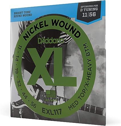 DAddario EXL117 Juego de Cuerdas, Plateado, 11-56: Amazon.es ...