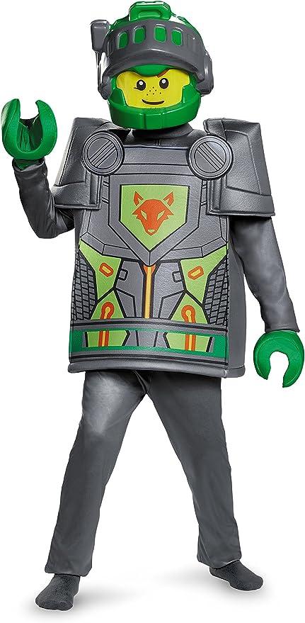 LEGO Nexo – Disfraz, Aaron Deluxe Disfraz, tamaño Mediano, Edad 7 ...