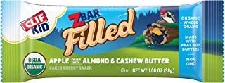 product image for CLIF KID ZBAR FILLED - Organic Granola Bars - Apple Almond and Cashew Butter (1.06 Ounce Lunch Box Snacks, 12 Count)