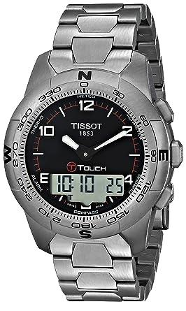 c25342d44ee Image Unavailable. Image not available for. Color  Tissot Men s  T0474204405700 T-Touch II Men s Black Quartz Touch Watch