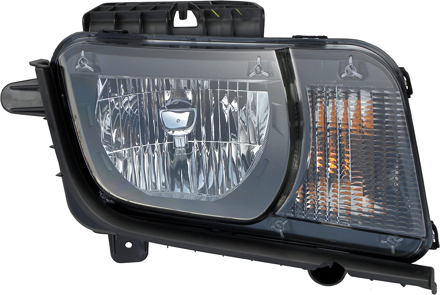 -Black 6 inch Driver side WITH install kit 2007 Mitsubishi Fuso FM SERIES Post mount spotlight 100W Halogen