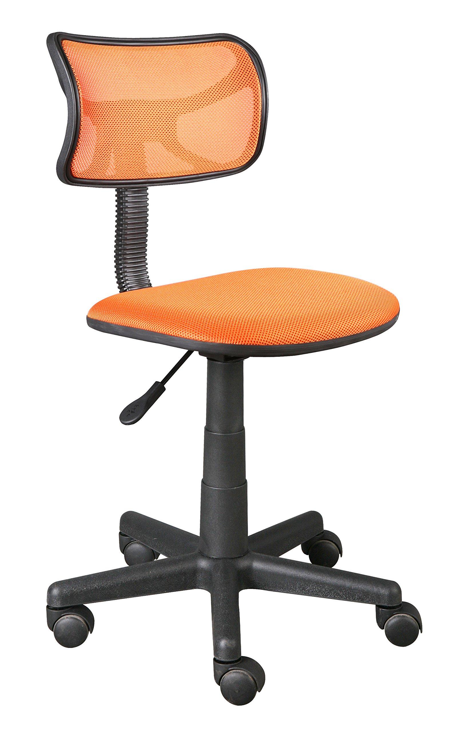 Urban Shop Swivel Mesh Chair, Orange
