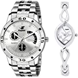 Espoir Analogue Multicolor Dial Men's & Women's Combo Watch ES109 2455