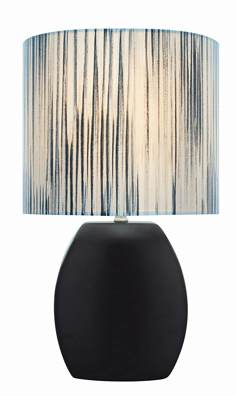 Lite source reiko 165 ceramic table lamp black amazon mozeypictures Images