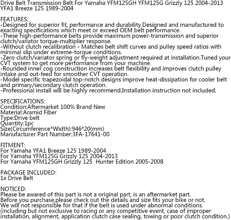 Courroie dentra/înement pour Yamaha 3FA-17641-00-00 YFM125 YFA125 Grizzly Breeze 125 1989-13