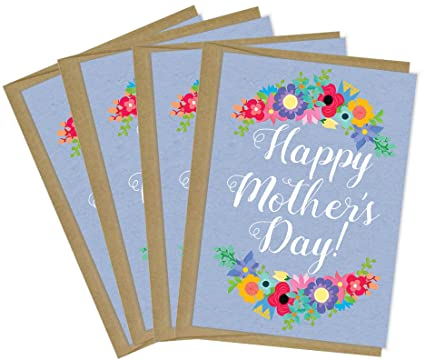 Amazon tiny expressions happy mothers day greeting cards with tiny expressions happy mothers day greeting cards with recycled grocery bag envelopes multipack 4 pack m4hsunfo