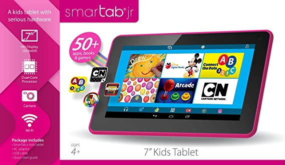 Smartab STJR76PK 7 Kids Tablet With Preloaded Disney Apps, Games & Books, Android 4.4 Kitkat, 1 YEAR WARRANTY