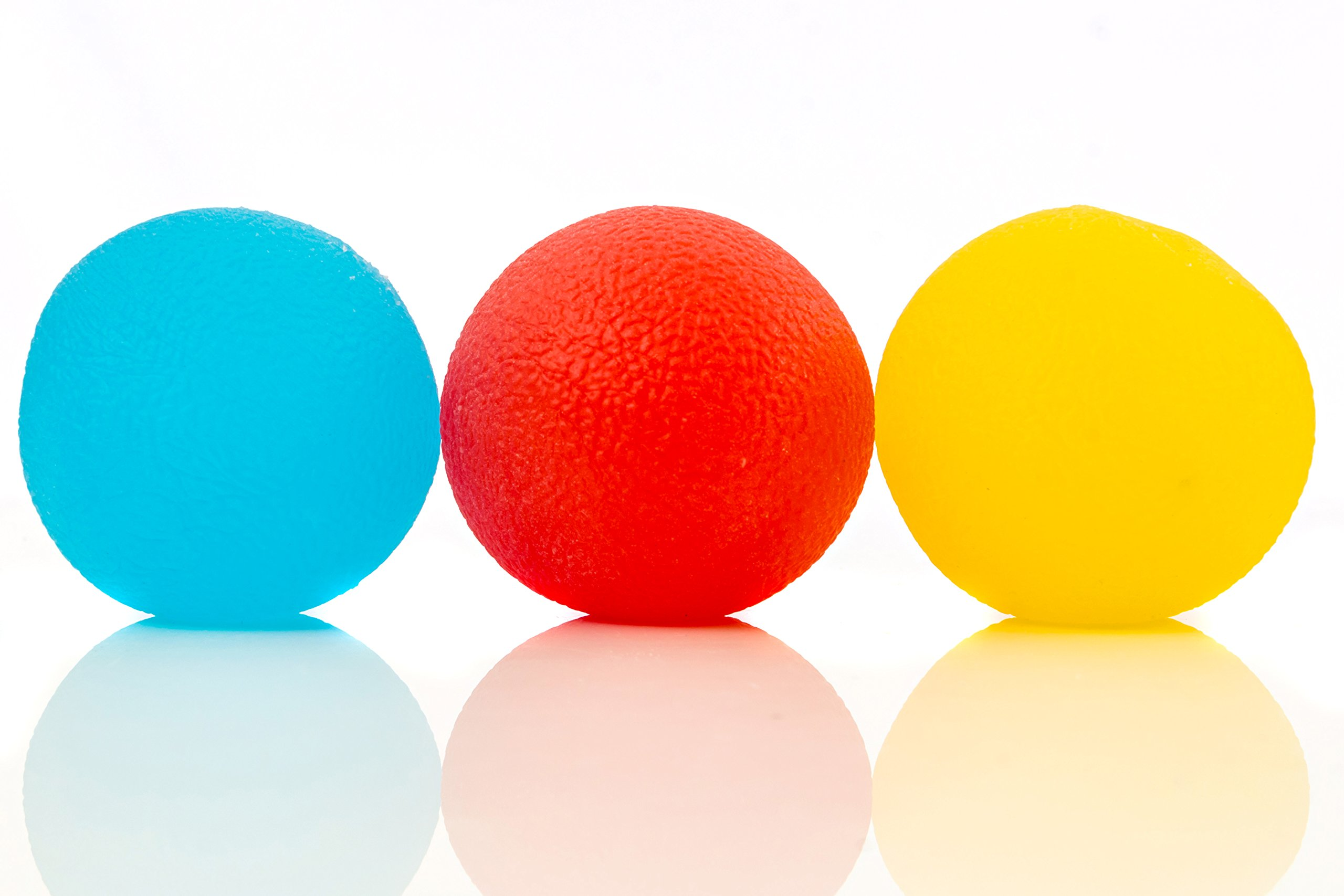 Stress Relief Balls (3-pack) - Tear-Resistant, Non-toxic, BPA/Phthalate/Latex-Free (Colors as Shown) - Perfect for Kids and Adults - Squishy Relief Toys for Anxiety, ADHD, Autism and More - By IMPRESA by Impresa Products