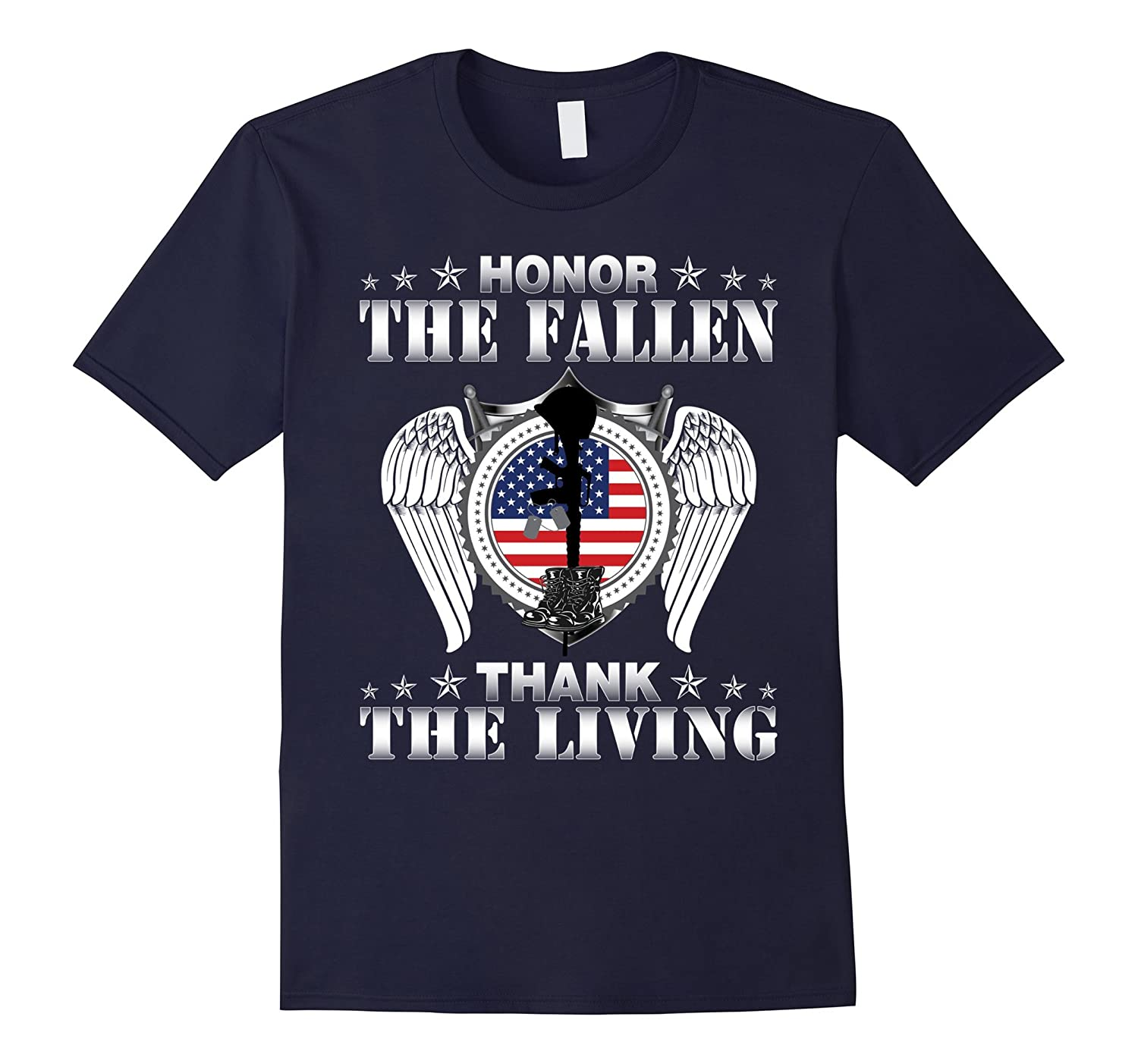 Honor The Fallen Thank The Living T-Shirt Memorials Day-Vaci