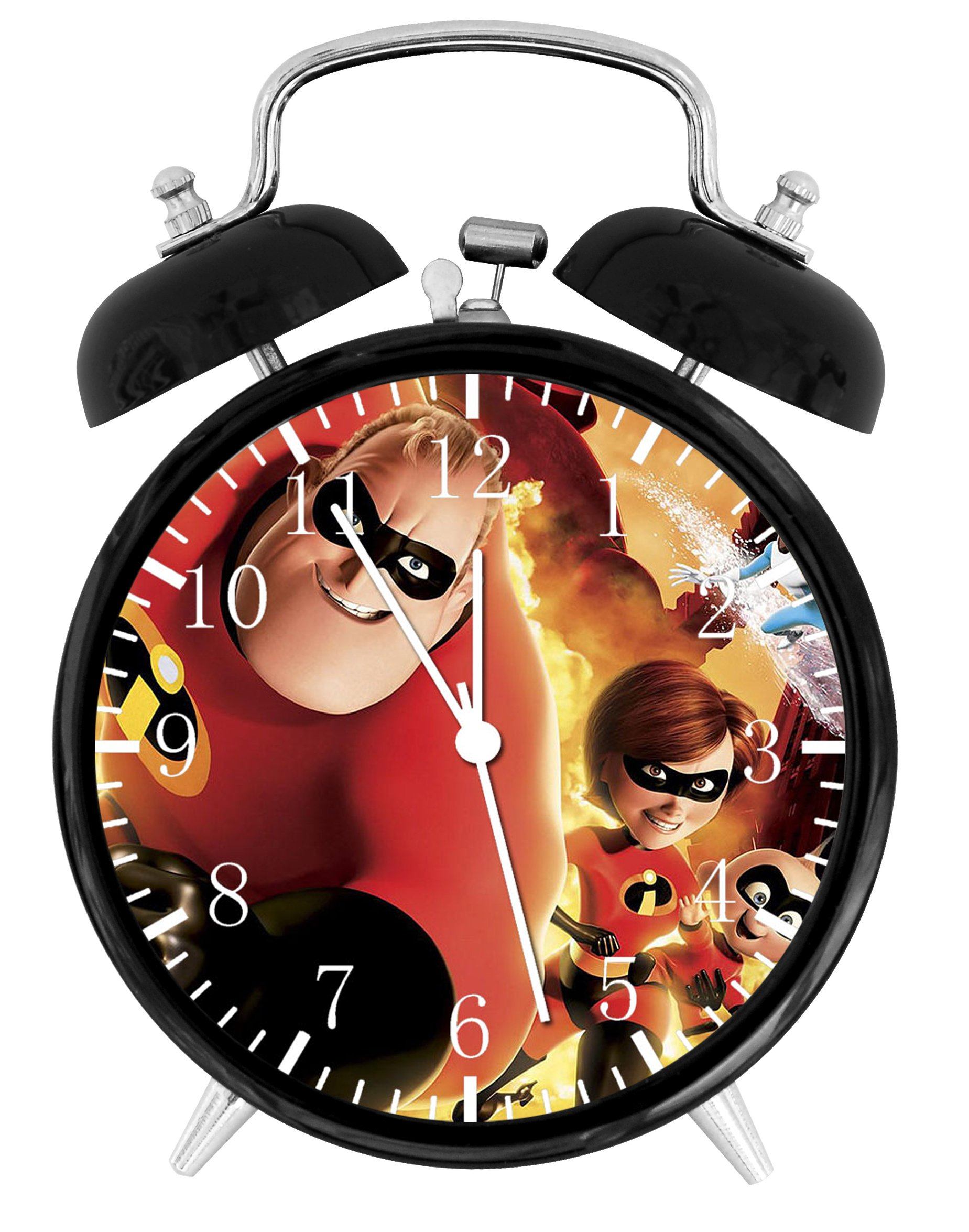 Disney The Incredibles Alarm Desk Clock Home Office Decor F54 Nice For Gifts